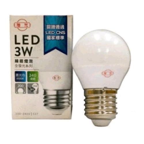 旭光3W LED燈泡白光 LSB3W 865