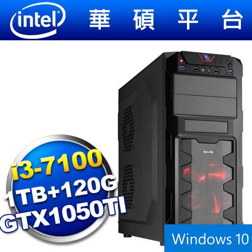 【Win10】華碩B150平台【狙擊少帥】i3雙核GTX1050TI獨顯電玩機