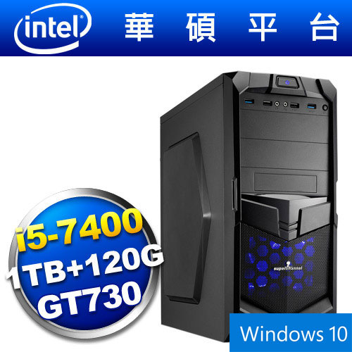 【Win10】華碩B150平台【狙擊騎兵】i5四核GT730獨顯SSD電玩機