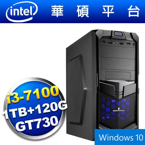 【Win10】華碩B150平台【狙擊神兵】i3雙核GT730獨顯SSD電玩機