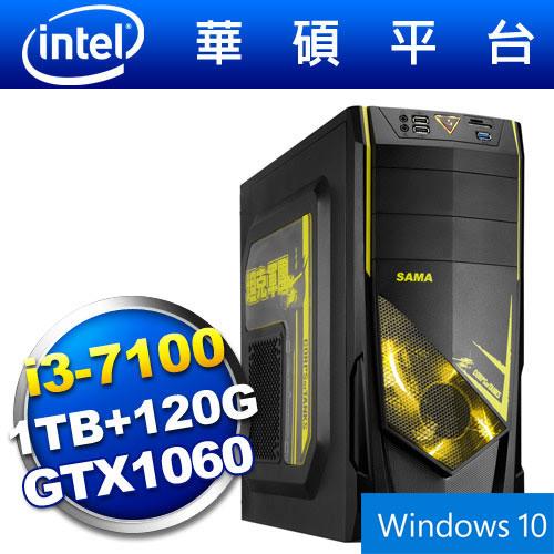 【Win10】華碩B150平台【狙擊坦克】i3雙核GTX1060獨顯SSD電玩機