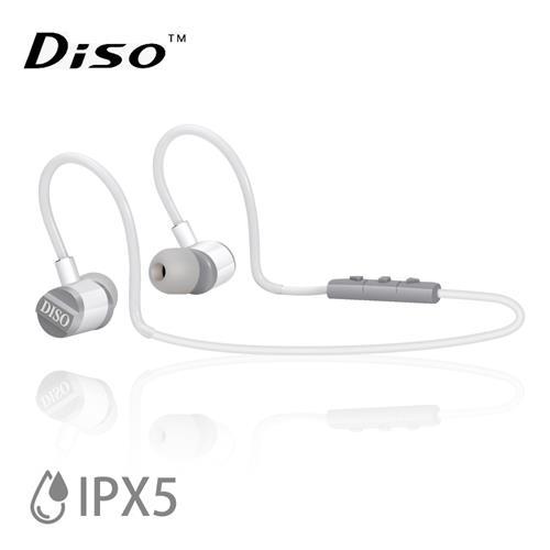 DISO MH-816 IPX5極輕藍芽耳機 (白灰)