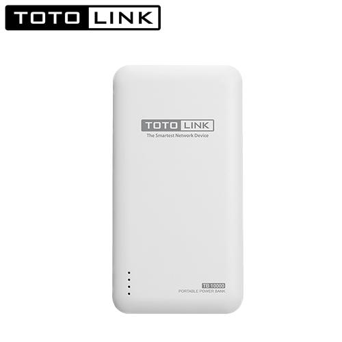 TOTOLINK 超薄快充10000行動電源 TB10000 白色