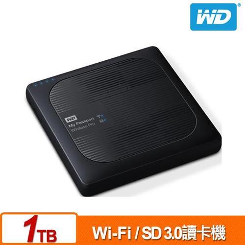WD My Passport Wireless Pro 1TB 2.5吋 Wi-Fi 行動硬碟