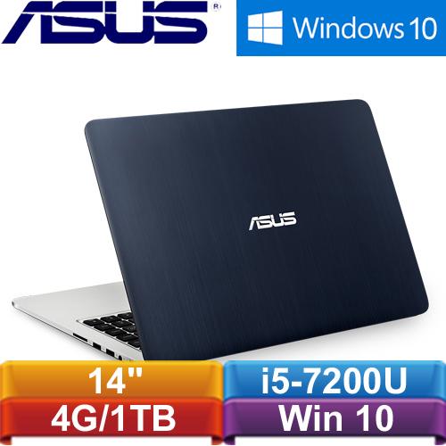ASUS華碩 K401UQ-0072A7200U 14吋筆記型電腦【福利機~超優惠~】