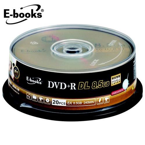 E-books 國際版 8X DVD+R DL8.5G 20片桶裝