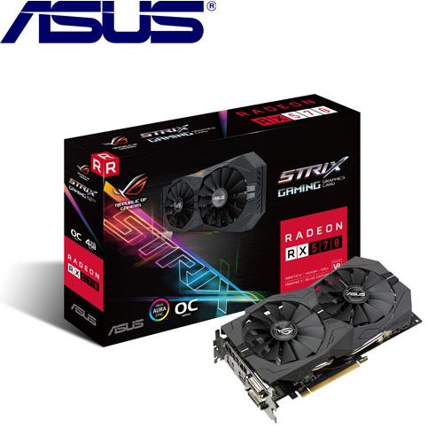 【網購獨享優惠】ASUS華碩 ROG-STRIX-RX570-O4G-GAMING 顯示卡
