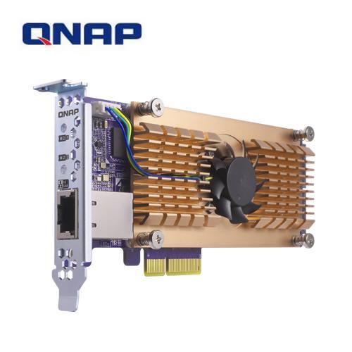 QNAP QM2-2P10G1T 雙埠 M.2 2280 PCIe SSD 含單埠10GbE 擴充卡