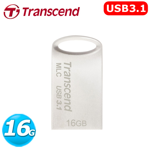 Transcend 創見 USB 3.0 / 3.1 隨身碟 JetFlash 720S 16GB 鋅合金防水抗震碟