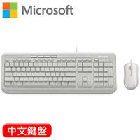 Microsoft 微軟 600 標準鍵盤滑鼠組 白 中文