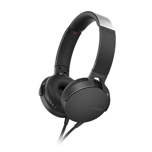 SONY 重低音可通話耳罩式有線耳麥 MDR-XB550AP-B 黑