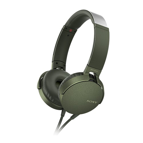 SONY 重低音可通話耳罩式有線耳麥 MDR-XB550AP-G 綠