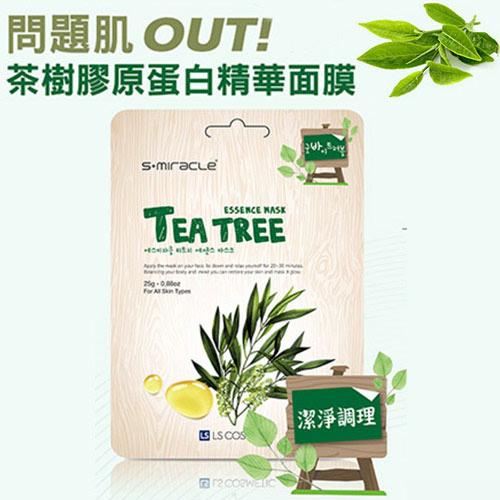 韓國 S+Miracle-茶樹控油面膜Tea tree 1入