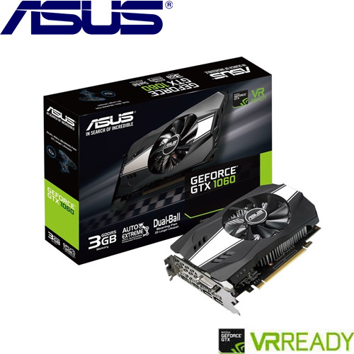 ASUS華碩 GeForce PH-GTX1060-3G 顯示卡【送硬碟收納包】