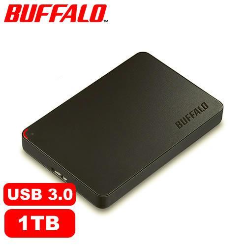 BUFFALO PCF 1TB 2.5吋 日本輕巧硬碟-黑色