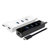 Digifusion 伽利略 USB3.0 Type-C 4埠 HUB(黑)
