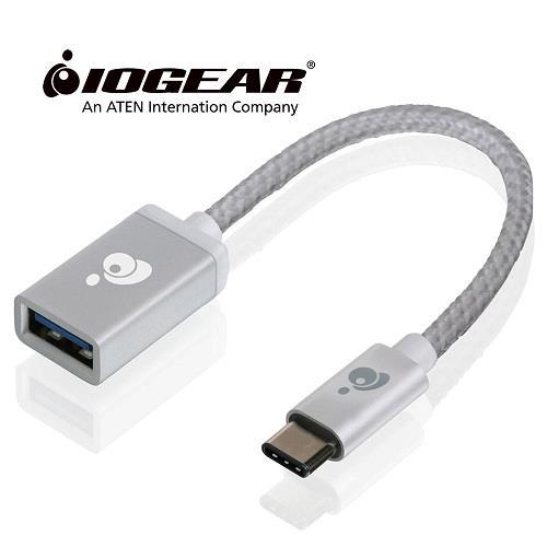 美國IOGEAR USB-C轉Type-A母轉接器-銀
