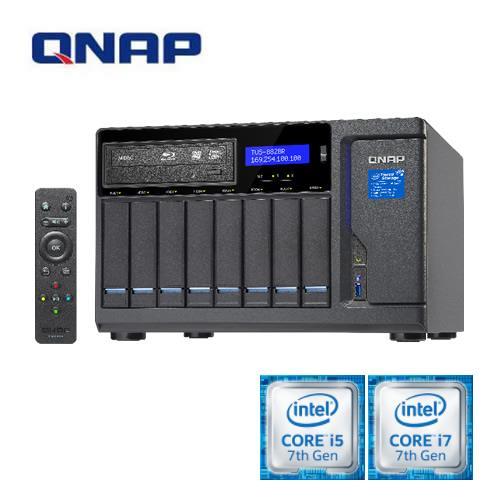 【QNAP 威聯通】TVS-882BR-ODD-i7-32G 8-Bay NAS 網路儲存伺服器(支援 4K (H.264) 影片線上即時轉檔與離線背景轉檔)