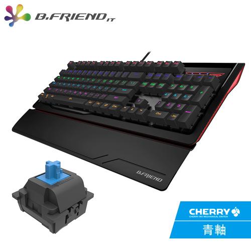 B.FRIEND MK1 多彩發光機械鍵盤 Cherry 青軸