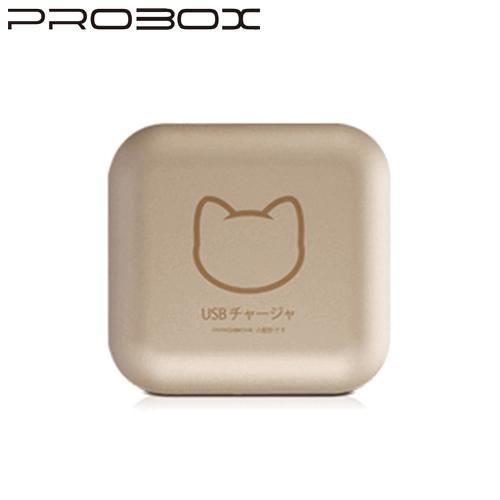 PROBOX 2.1A金屬質感貓物語 雙輸出高性能旅充 充電器 金