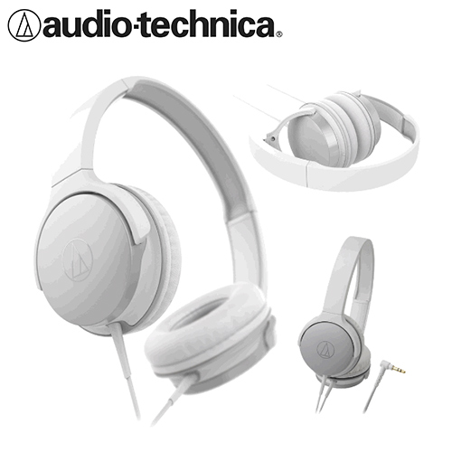 【公司貨-非平輸】鐵三角 ATH-AR1 輕量型便攜式耳罩耳機 白