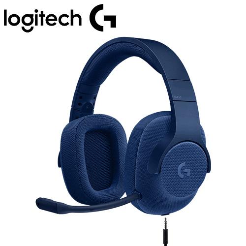 Logitech 羅技 G433 7.1聲道有線遊戲耳機麥克風 真實藍
