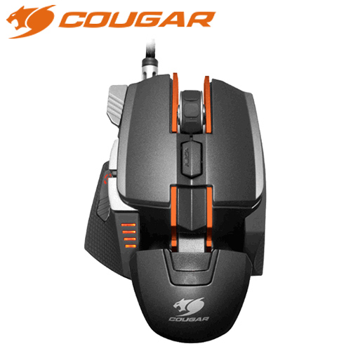 COUGAR 美洲獅 700M 雷射電競滑鼠 黑橘