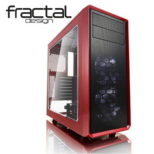 Fractal Design Focus G(烈焰紅)側板開窗
