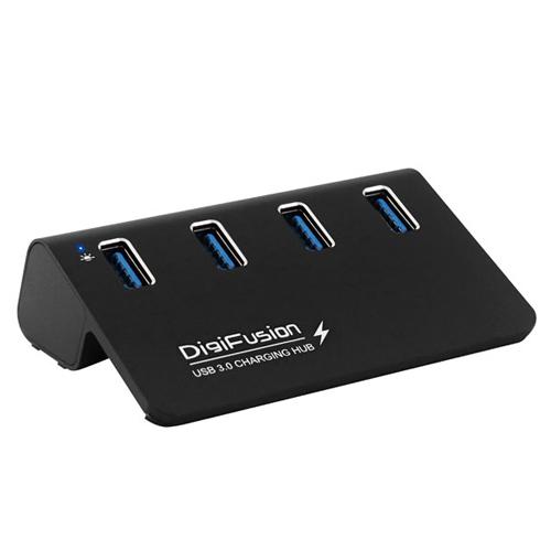 伽利略 USB3.0  4埠 充電HUB 鋁合金 (黑)