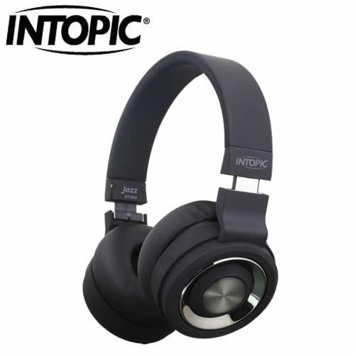 INTOPIC 摺疊藍芽耳機麥克風JAZZ-BT980-BK 黑色【現省300★高階喇叭單體】