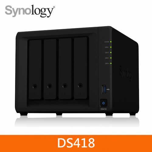 Synology DS418 網路儲存伺服器【新功能私有雲上即時協作】