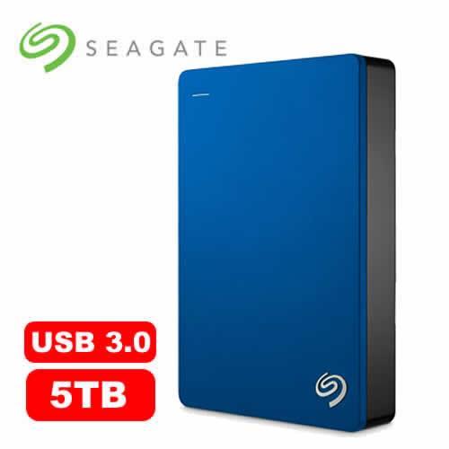 Seagate希捷 Backup Plus 2.5吋 5TB 行動硬碟 藍【下殺1000~送保護套~10/22止】