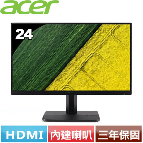Acer ET241Y 24型IPS無邊框螢幕