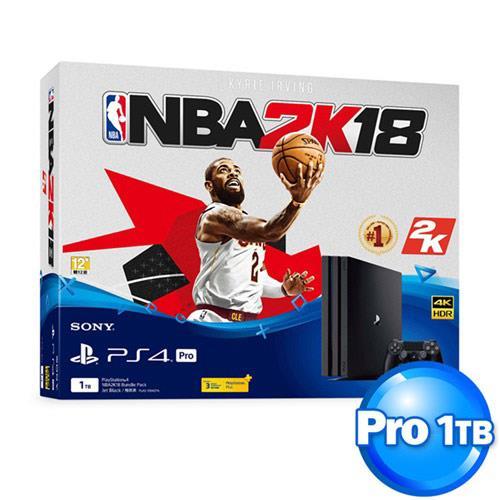 【客訂品】PS4主機 Pro CUH-7017 系列 1TB NBA 2K18 同捆組【限定2套】