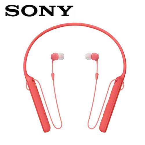 【公司貨-非平輸】SONY 無線藍牙頸掛入耳式耳麥WI-C400-R紅【新春精選特惠 使用1點紅利另有優惠】