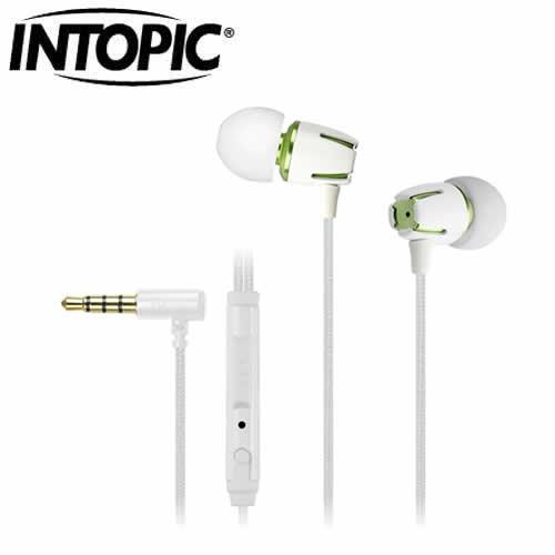 INTOPIC高質感鋁合金耳機麥克風JAZZ-I72-W 白