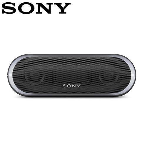 SONY 可攜式無線防水藍牙喇叭 SRS-XB20-B 黑