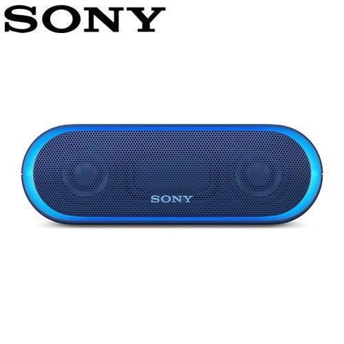 SONY 可攜式無線防水藍牙喇叭 SRS-XB20-L 藍