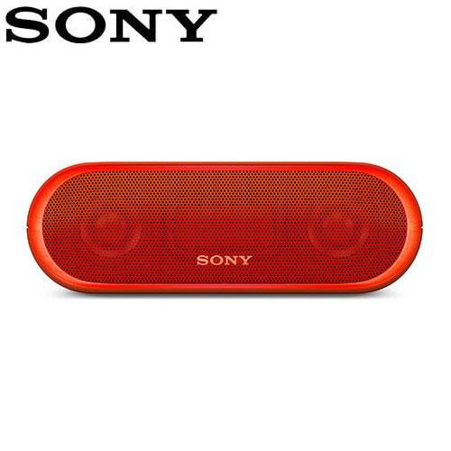 SONY 可攜式無線防水藍牙喇叭 SRS-XB20-R 紅