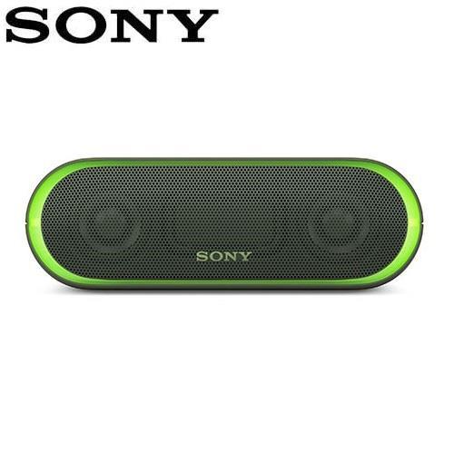 SONY 可攜式無線防水藍牙喇叭SRS-XB20-G 綠