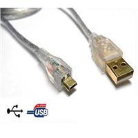 i-wiz USB 2.0 A公/Micro B公鍍金透明傳輸線 5M
