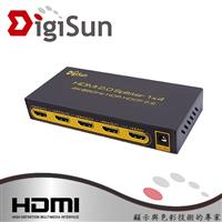 DigiSun UH814 4K HDMI 2.0 一進四出影音分配器