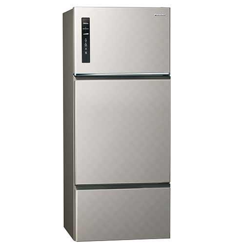 Panasonic 481公升三門變頻冰箱 NR-C489TV-S(銀河灰)【現省2千6送炒鍋 含運+送基裝+回收舊機】