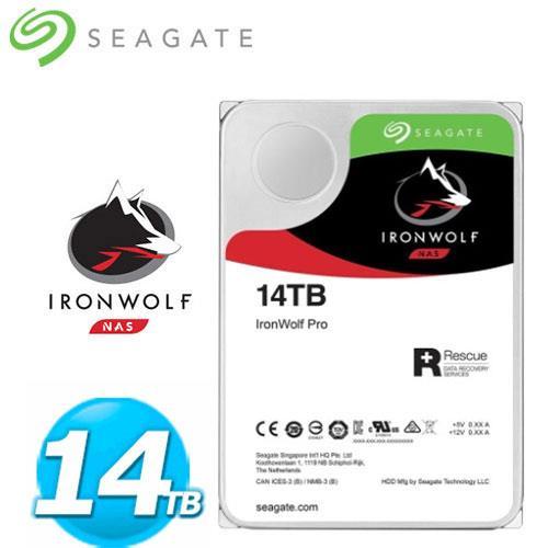Seagate 那嘶狼【IronWolf Pro】14TB 3.5吋 NAS硬碟 (ST14000NE0008)