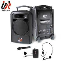 UR SOUND 雙頻藍芽/CD/USB/SD移動式無線擴音機(一手一腰) PA9223CDNB