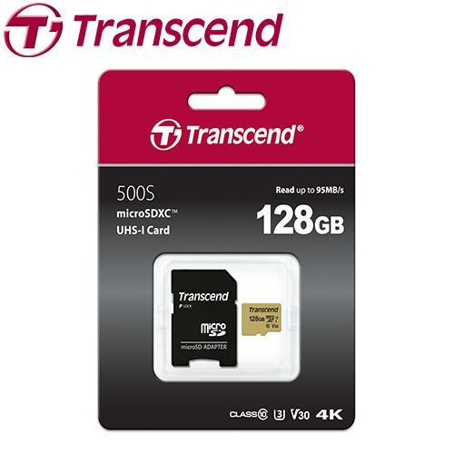 Transcend 创见 microSDXC 500S / 128G 记忆卡 ( U3 / V30 / MLC )