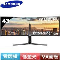 SAMSUNG三星 43型 C43J890DKE VA曲面液晶螢幕