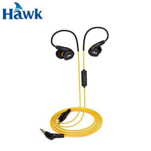 Hawk 逸盛 S300 防水運動型耳機麥克風 黃