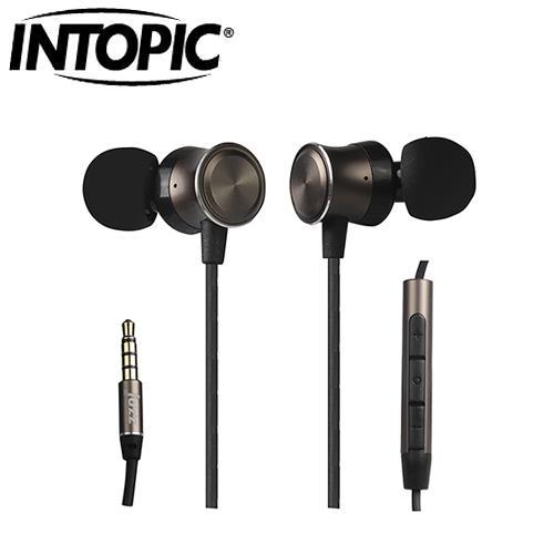 INTOPIC 廣鼎 頸掛式鋁合金耳機麥克風 咖啡 JAZZ-I102-BR