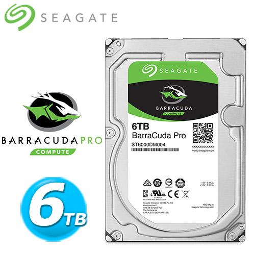 Seagate【BarraCuda Pro】6TB 3.5吋硬碟機 (ST6000DM004)